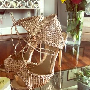 Misguided rose gold heels